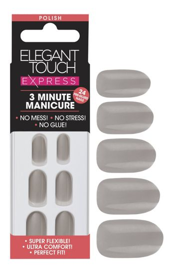 Elegant touch Express Trend Nails Grey Shimmer
