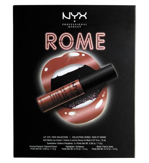 Nyx Professional Makeup Soft Matte lip cream city Rome set