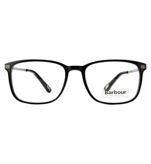 Barbour1705M black acetate and silver metal glasses