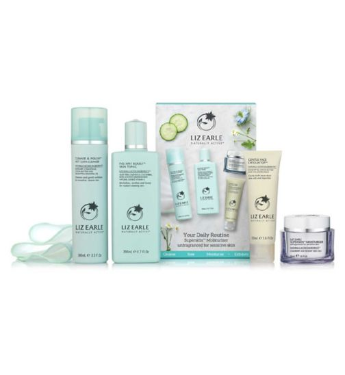 Liz Earle Your Daily Routine with Superskin Moisturiser Unfragranced for Sensitive Skin