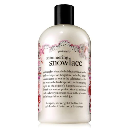 Philosophy Shimmering Snowlace Shampoo, Shower Gel & Bubble Bath 480ml