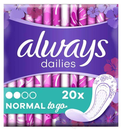 Always Dailies single liners to go x20