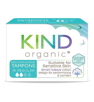 Kind Organic Non-Applicator Tampons Regular 18s