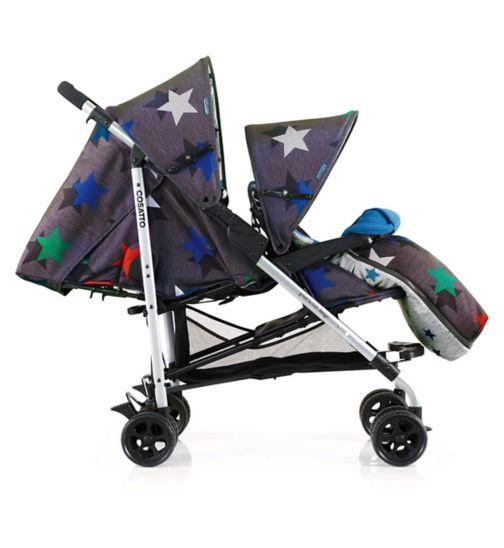 Cosatto Shuffle Tandem Stroller Grey Megastar