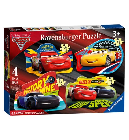Disney Pixar Cars 3 4 Shaped Jigsaw Puzzles