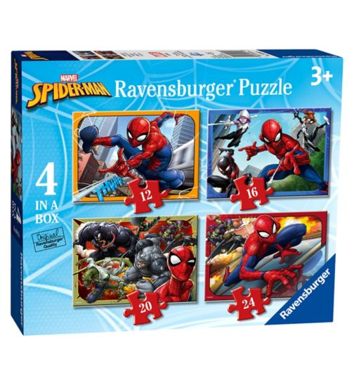 Marvel Spider Man 4 in Box Jigsaw Puzzles