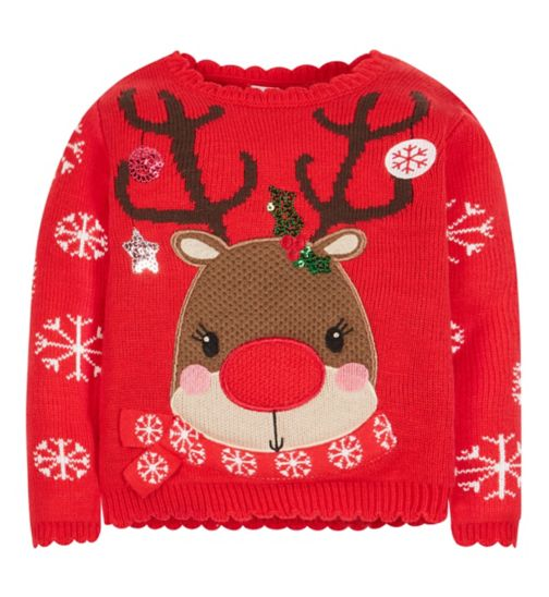 Mini Club Reindeer Christmas Jumper