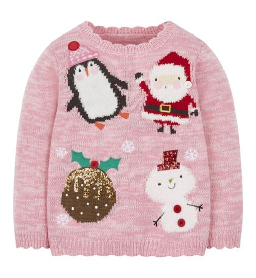 Mini Club Pink Christmas Jumper