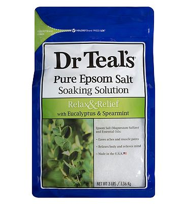 Dr Teal's Pure Epsom Salt Soaking Solution Relax & Relief with Eucalyptus & Spearmint 1.36kg