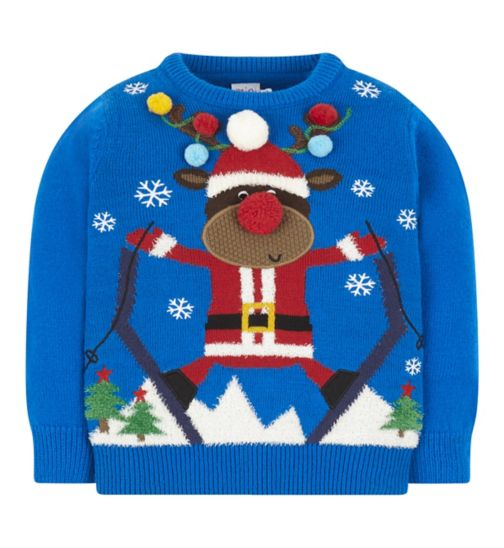 Mini Club Christmas Reindeer Jumper