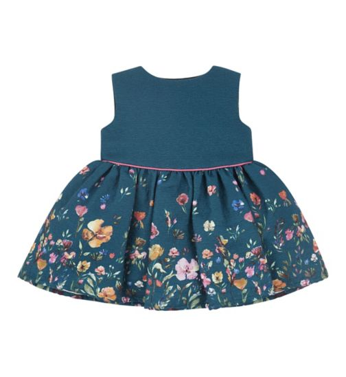 Mini Club All Dressed Up floral border dress