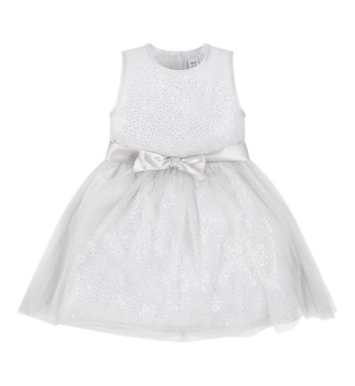 Mini Club All Dressed Up Sliver Sequin Dress