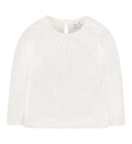 Mini Club All Dressed Up Lace Sleeve Top