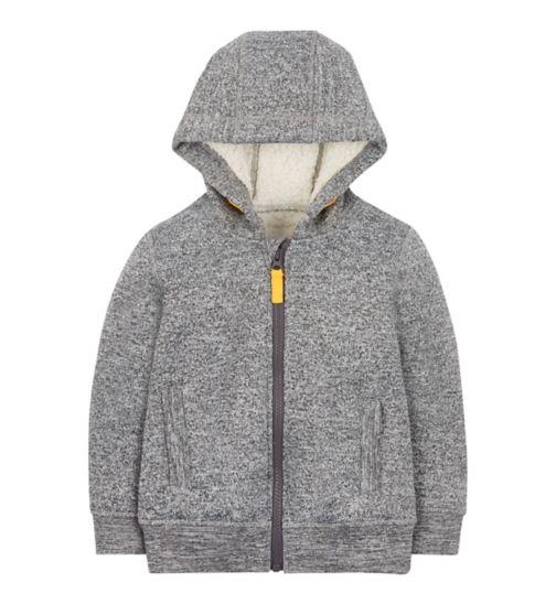 Mini Club grey fur lined hoodie