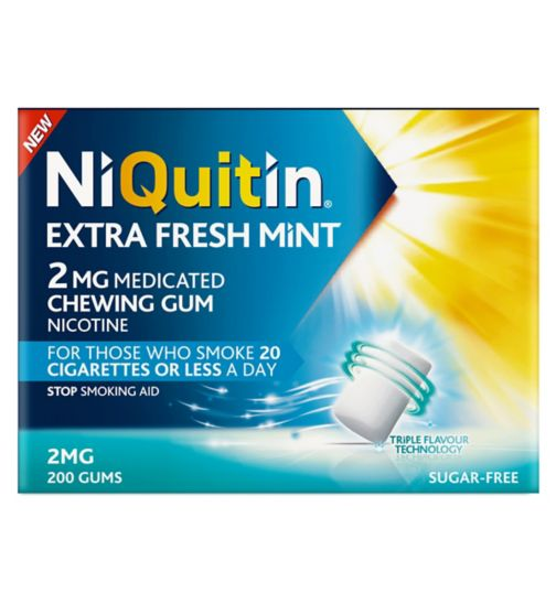 NiQuitin Extra Fresh Mint 2mg Medicated Chewing Gum 200s
