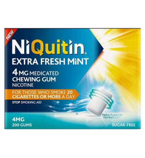 Niquitin Extra Fresh Mint 4mg Medicated Chewing Gum 200s
