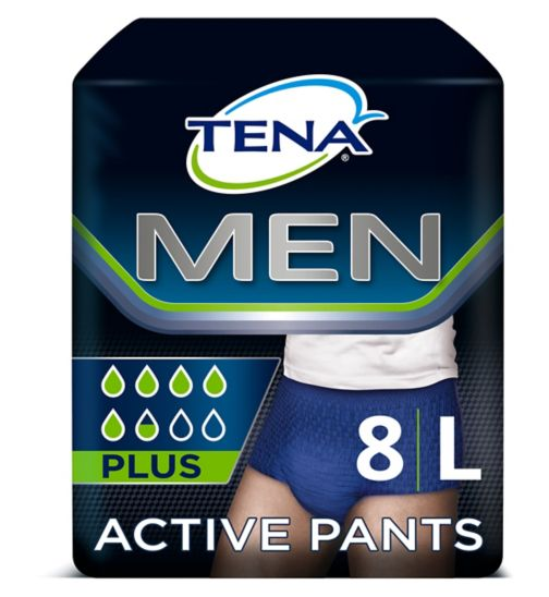 Tena Men Active Fit Pants Large - 8 Pants