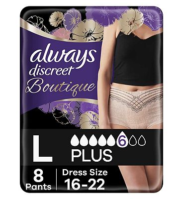 Always Discreet Boutique Incontinence Pants Large X 8 Peach