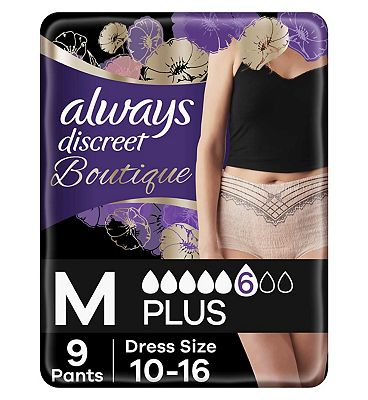 Always Discreet Boutique Incontinence Pants Medium X 9 Peach