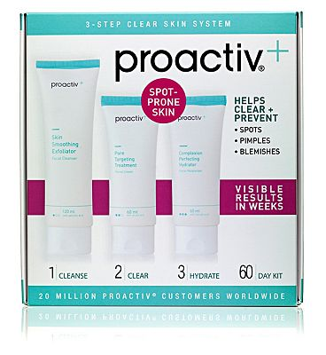 Proactiv + 3-Step Clear Skin System - 60 day supply for acne prone skin