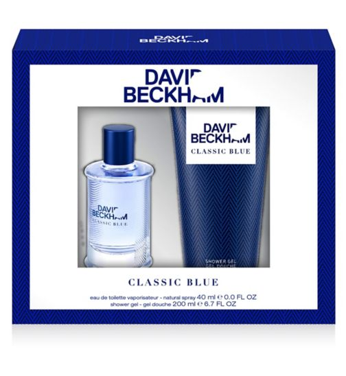 Beckham Classic Blue Eau de Toilette 40ml gift set