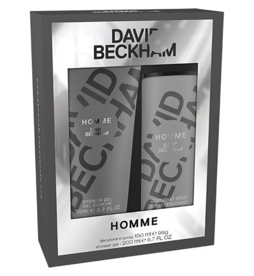 Beckham Homme Body Spray 150ml gift set