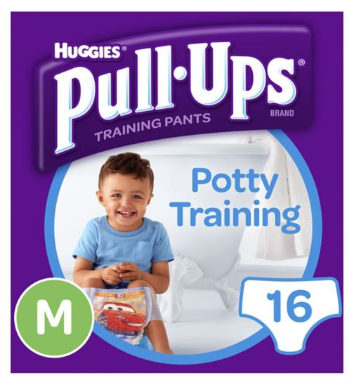 Huggies Pull Ups Day Time Potty Training Pants Boys Size Medium (10-18kg, 22-40lbs) 16 Pants