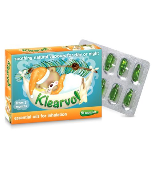 Klear-vol Essential Oils for Inhalation - 10 capsules
