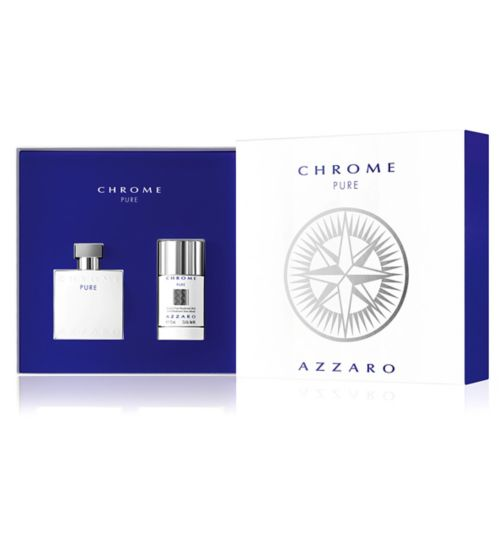 Azzaro Chrome Pure Eau de Toilette 50ml Gift Set