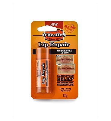 OKeeffe's lip repair unscented stick 4.2g