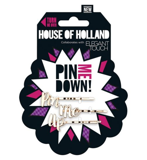House of Holland by Elegant Touch Pin Me Up Slides (Pack of 3)
