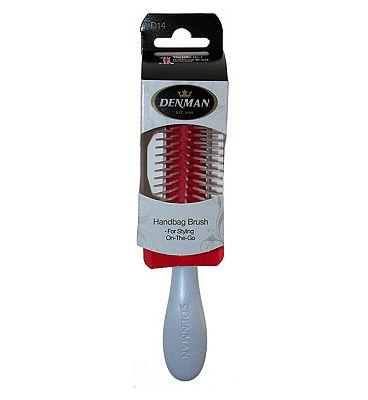 Denman D14 Handbag Styling Brush - white handle