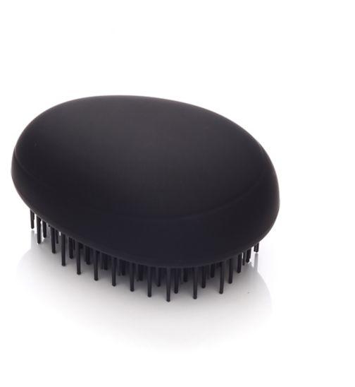 Kent Brushes Pebble Brush matt black travel brush