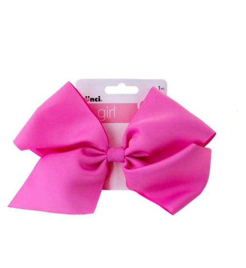 Scunci girl extra large bow concord pink