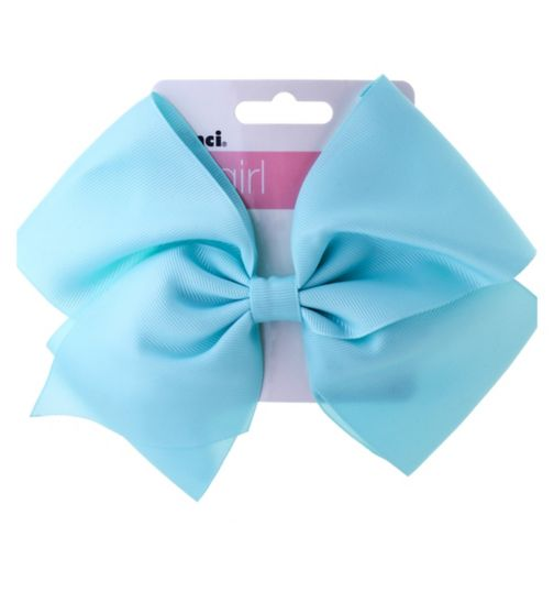 Scunci girl extra large bow concord blue