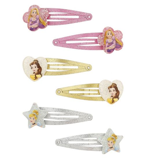 Disney Princessglitter snap   clips 6s