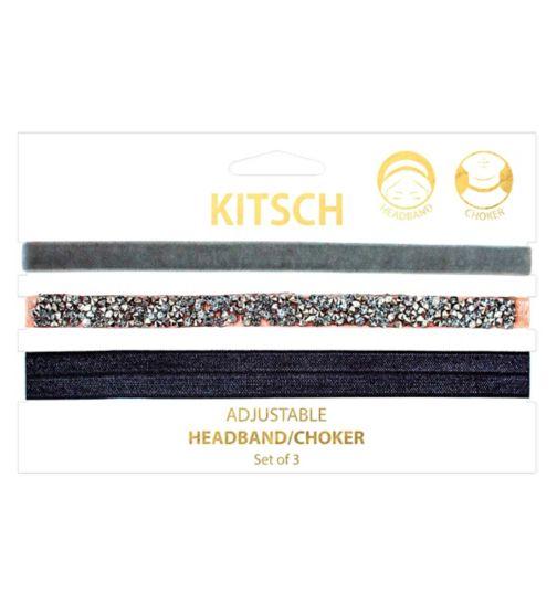 Kitsch headband & choker peach 3s