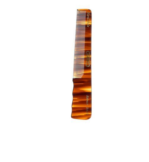 Kent Brushes R18T men's semi-handled handmade comb