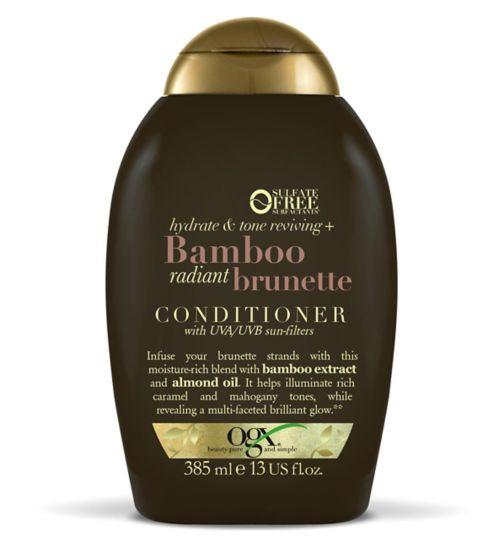 d8d316ecd OGX Hydrate & Color Reviving + Bamboo Radiant Brunette Conditioner 385ml