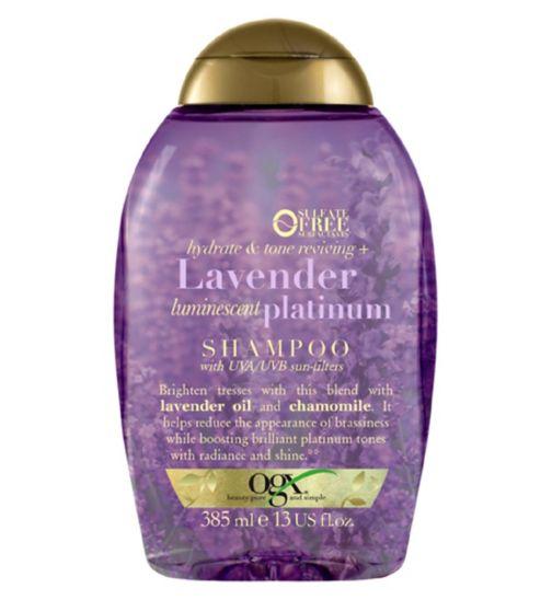 b0fce24f5 OGX Hydrate & Color Reviving + Lavender Luminescent Platinum Shampoo 385ml