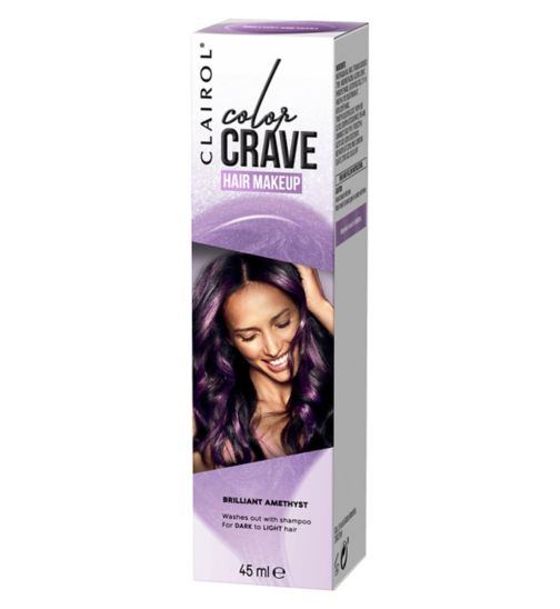 Clairol colour crave temporary hair dye amethyst 45ml