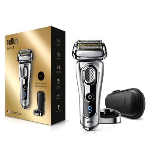 Braun Series 9 9260s Wet&Dry Electric Shaver with Charging Stand, premium silver