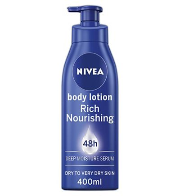 NIVEA Body Lotion for Dry Skin, Rich Nourishing, 400ml