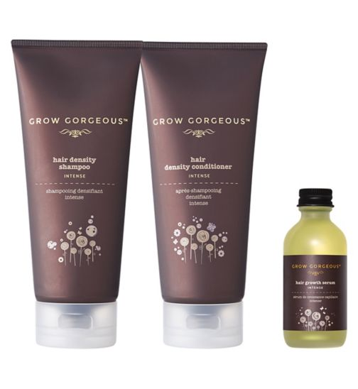 Grow Gorgeous Hair Density Conditioner Intense  190ml;Grow Gorgeous Hair Density Conditioner Intense 190ml;Grow Gorgeous Hair Density Shampoo Intense 190ml;Grow Gorgeous Hair Density Shampoo Intense 190ml;Grow Gorgeous Hair Growth Serum Intense 60ml;Grow Gorgeous Hair Growth Serum Intense 60ml;Grow Gorgeous Intensely Gorgeous bundle