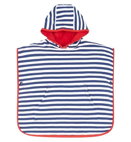 Mini Club Striped Poncho