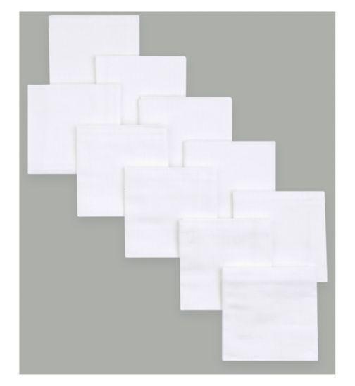 Mini Club 10 Pack White Muslin Squares