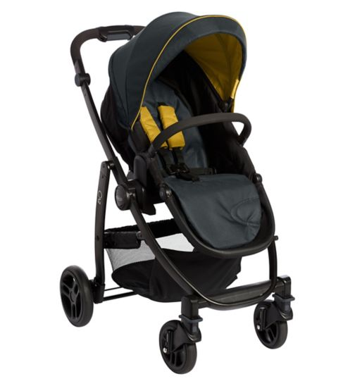 Graco Evo Travel System Grey and Yellow
