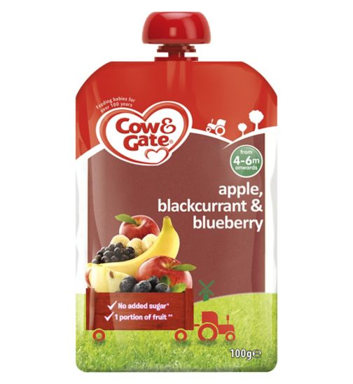 Cow & Gate Apple, Blackcurrant & Blueberry from 4-6m Onwards 100g