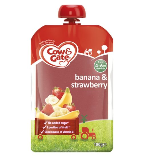 Cow & Gate Banana & Strawberry from 4-6m Onwards 100g