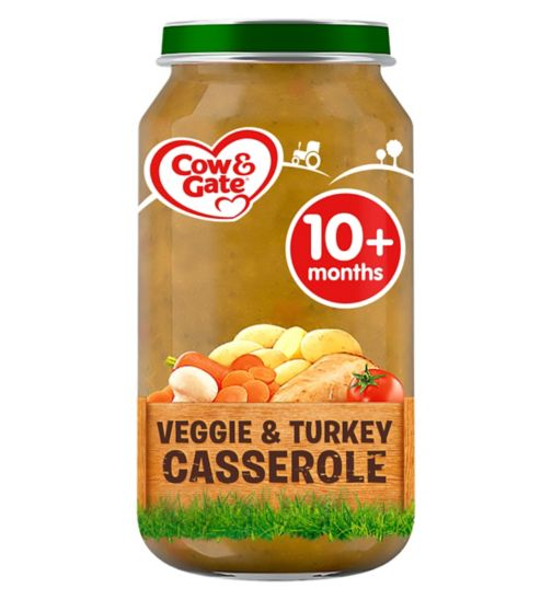 Cow & Gate Veggie & Turkey Casserole from 10m Onwards 250g